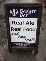 Glen Rothay Badger Bar sandwich board-600